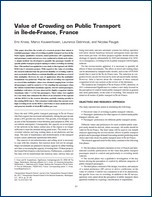Article Transport Research Board, Value of Crowding on Public Transport in Île-de-France (2014) {PDF}